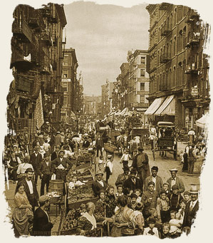 Mulberry Street, New York City, Created/Published ca. 1900